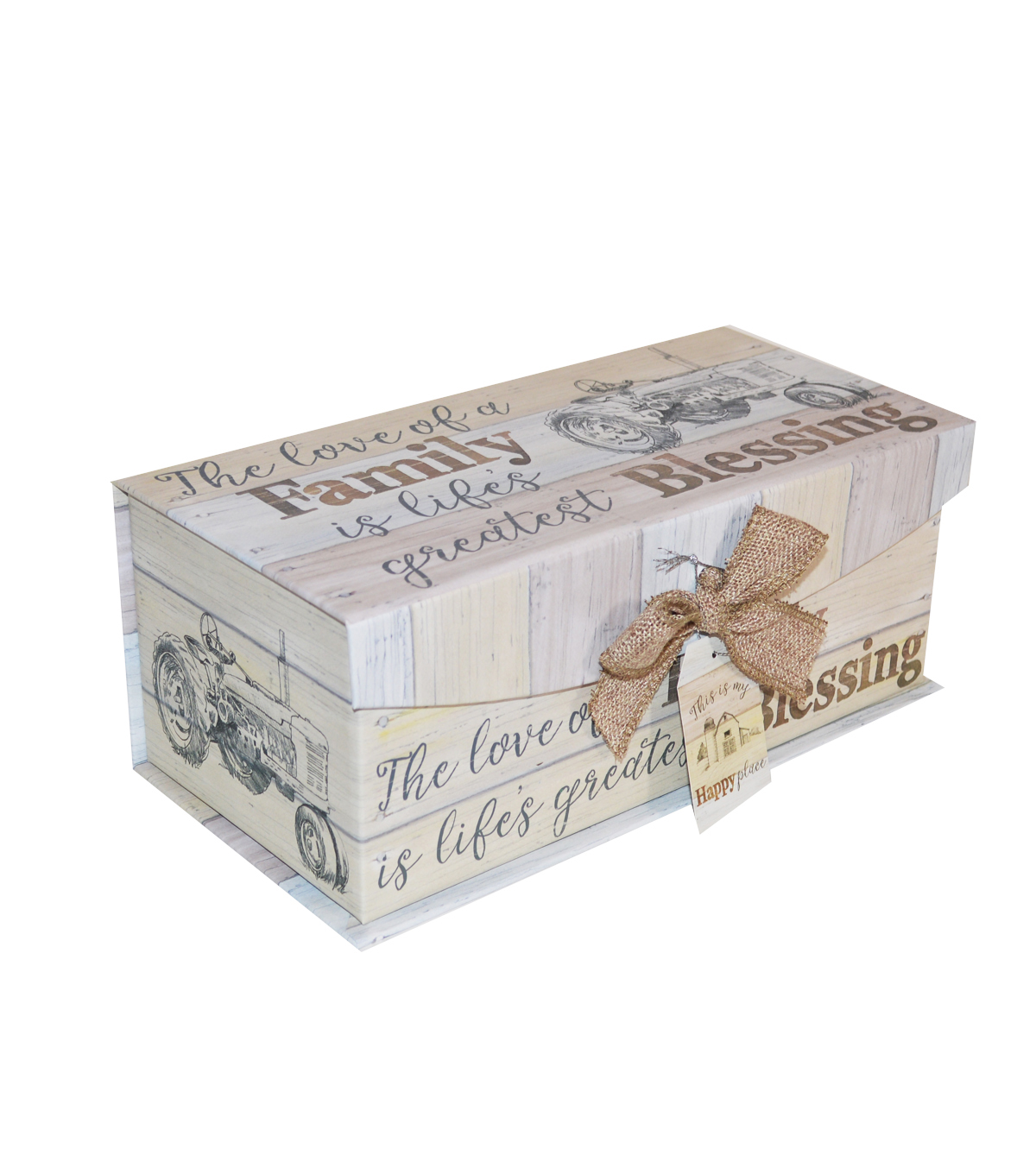 Organizing Essentials Medium Fliptop Storage Box-Farmhouse Sentiments