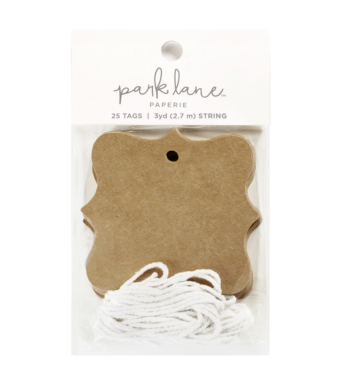 Park Lane Cartouche Tags & String-Kraft