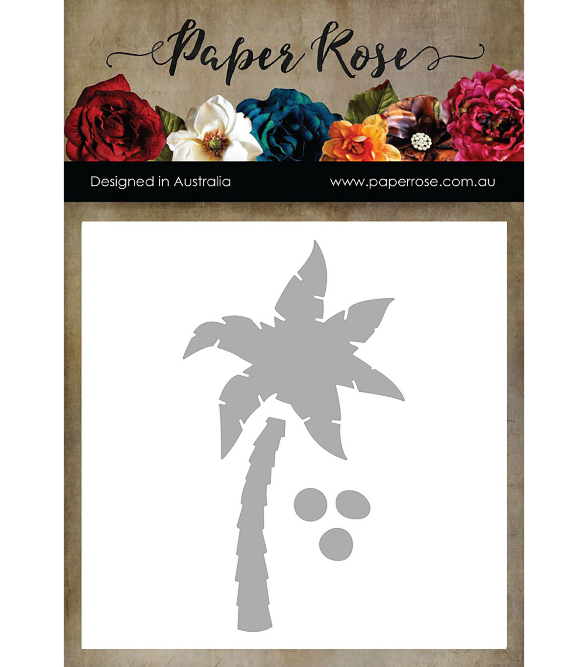 Paper Rose 3 pk Metal Dies-Large Palm Tree