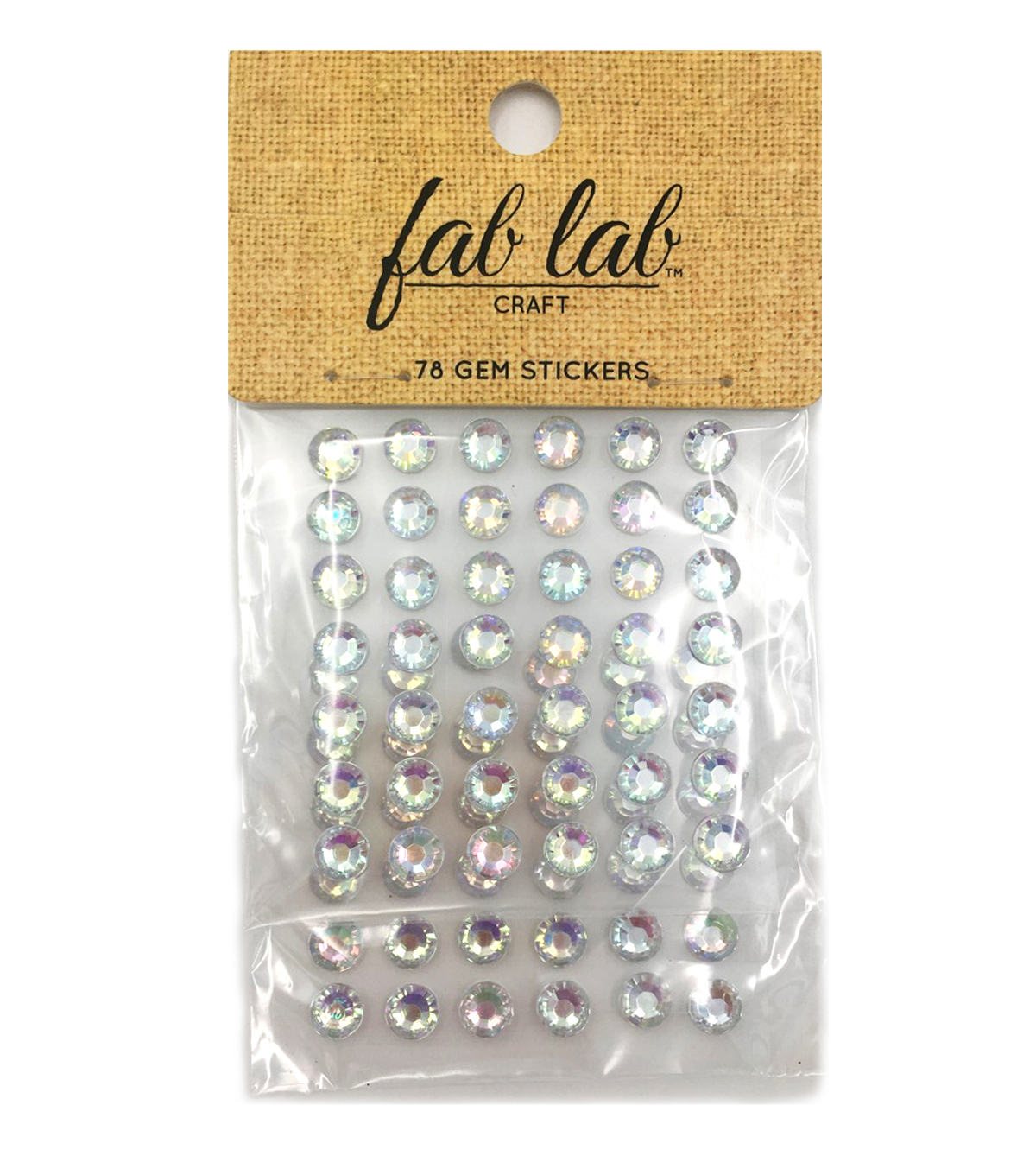 Stick-On Rhinestones-Crystal AB-7mm Round