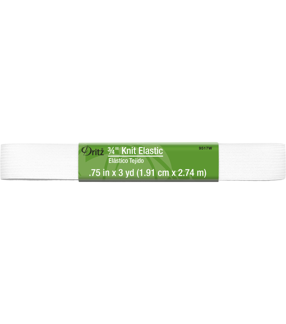 Dritz Knit Elastic White 0.75\u0022 Wide x 3Yds