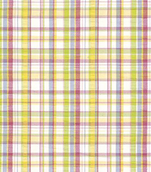 Home Decor 8\u0022x8\u0022 Fabric Swatch-Robert Allen Salt Pond Plaid Summer Fabric