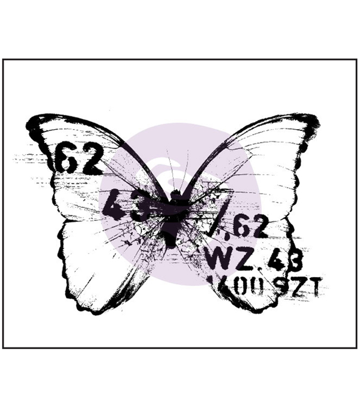 Prima Marketing Finnabair Butterfly 3 Wood Mounted Stamps