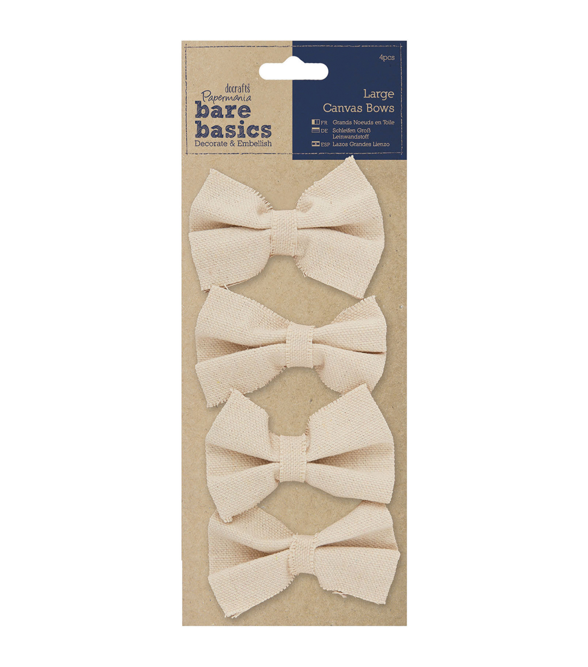 Papermania Bare Basics Canvas Large Bows