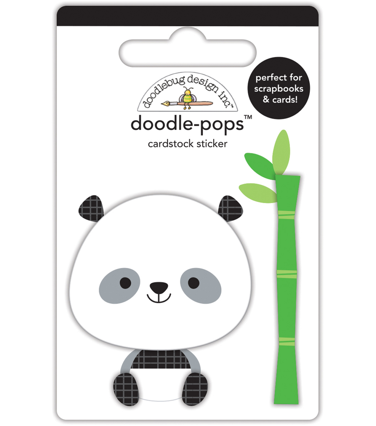 Doodlebug Doodle-Pops 3D Stickers -At The Zoo Polly Panda