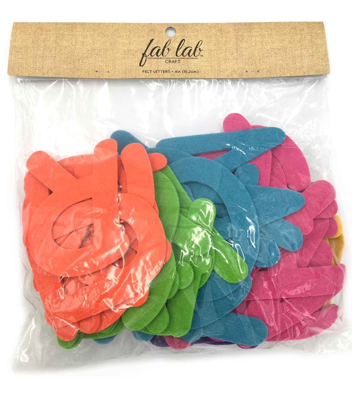 Stick It Felt 4 Inch Ltrs Multi Brights