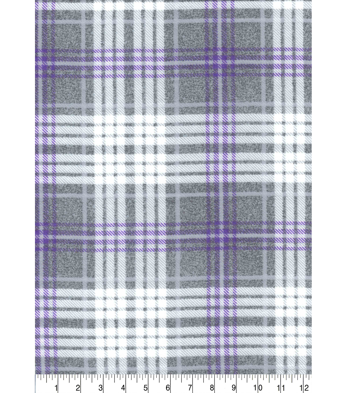 Luxe Flannel Fabric -Madison Purple Heather Plaids