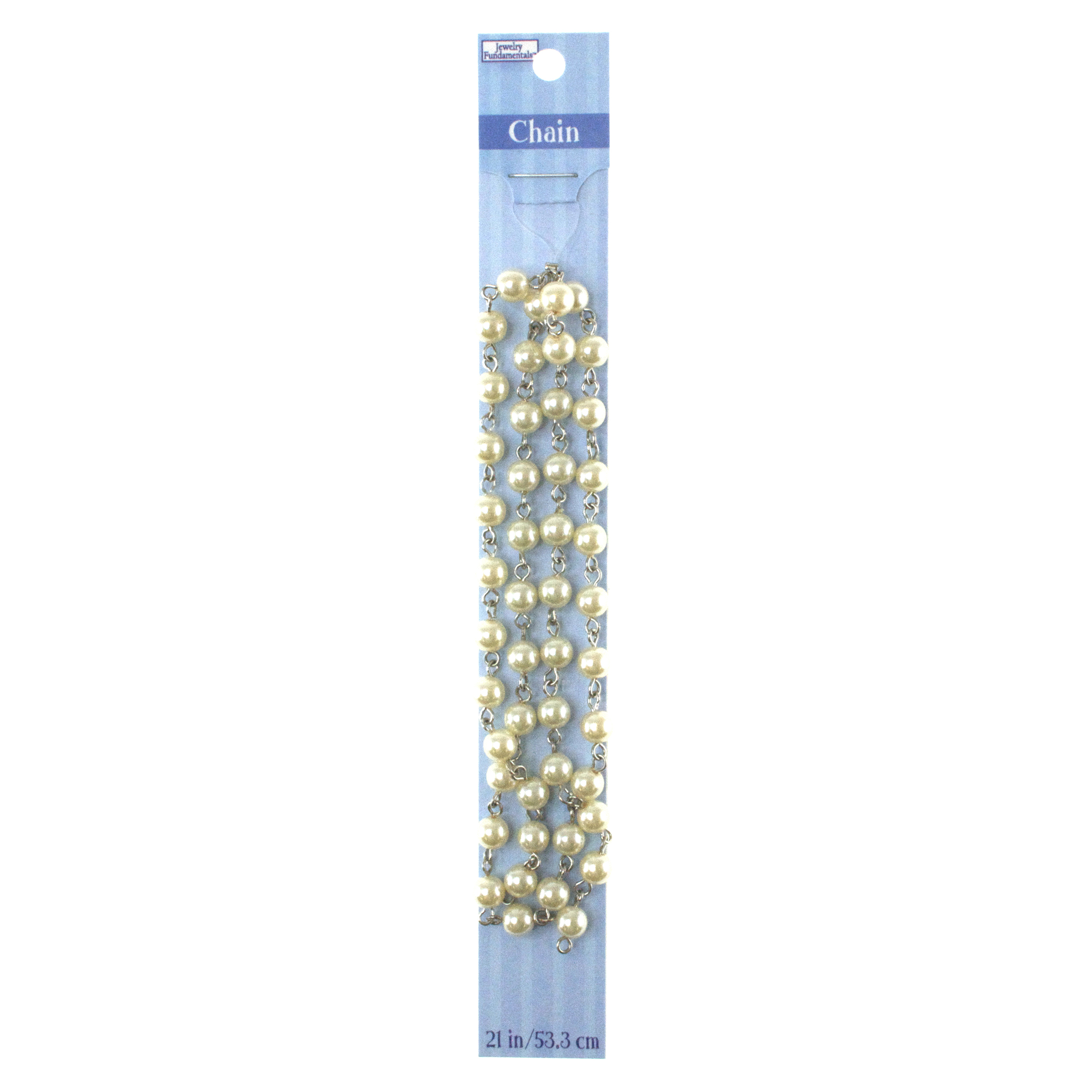 Jewelry Fundamentals 21 in. Chain-Pearly Off-White Links