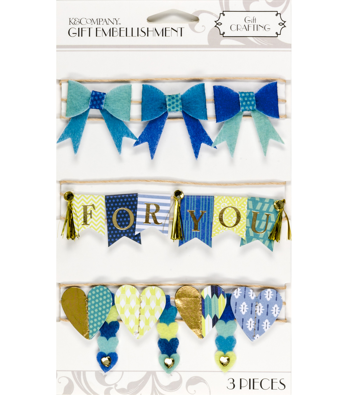 K&Company Cool Banner Gift Embellishment