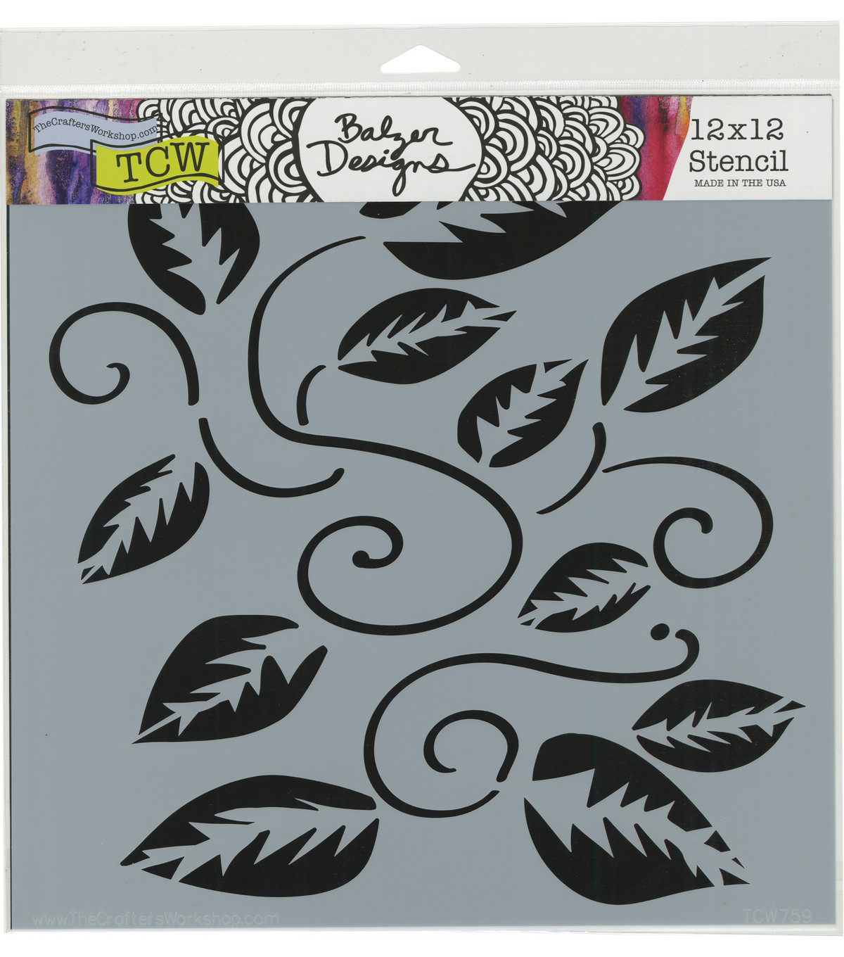 The Crafter\u0027s Workshop Julie Fei-Fan Balze Stencil-Tangled Vine