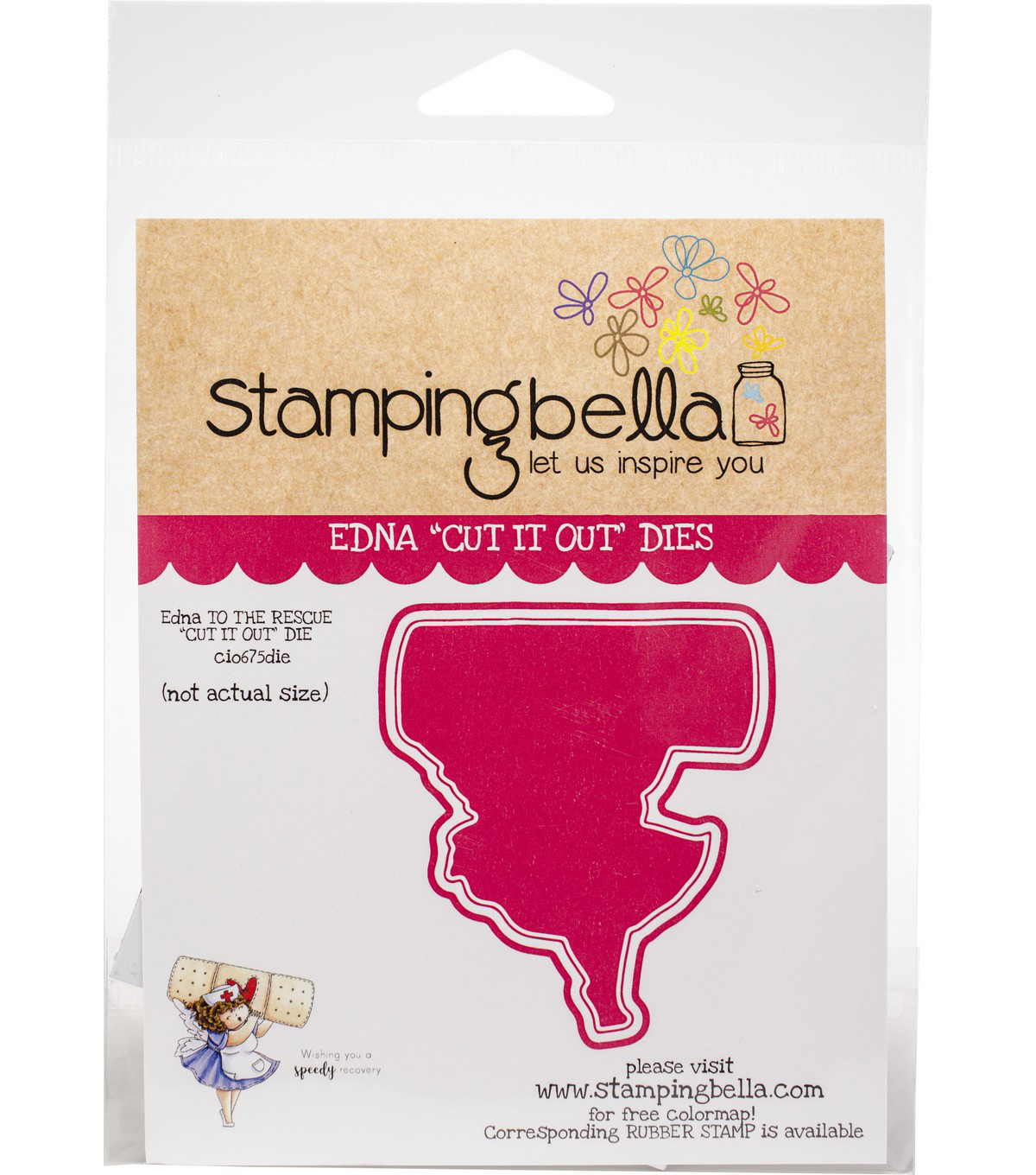 Stamping Bella Cut It Out Dies-Edna To The Rescue