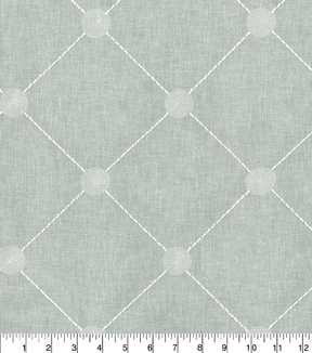 Kelly Ripa Home Multi-Purpose Decor Fabric 54\u0022-Fanfare Embroidery Spa