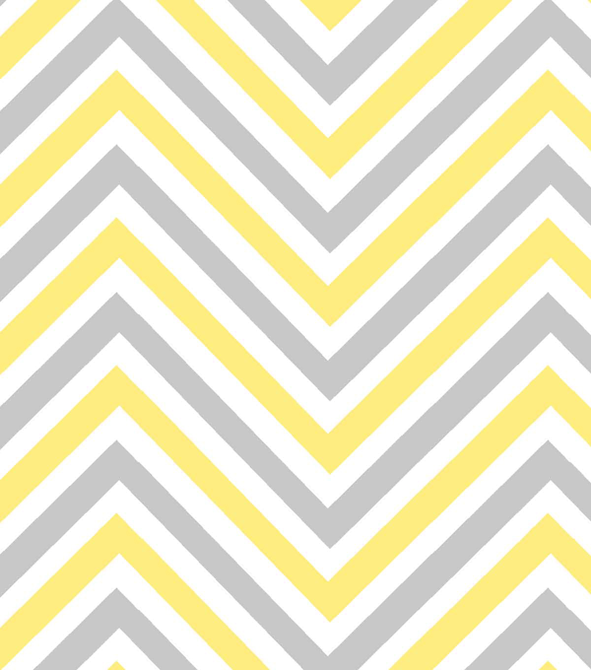 Nursery Cotton Fabric Ble Bee Chevron