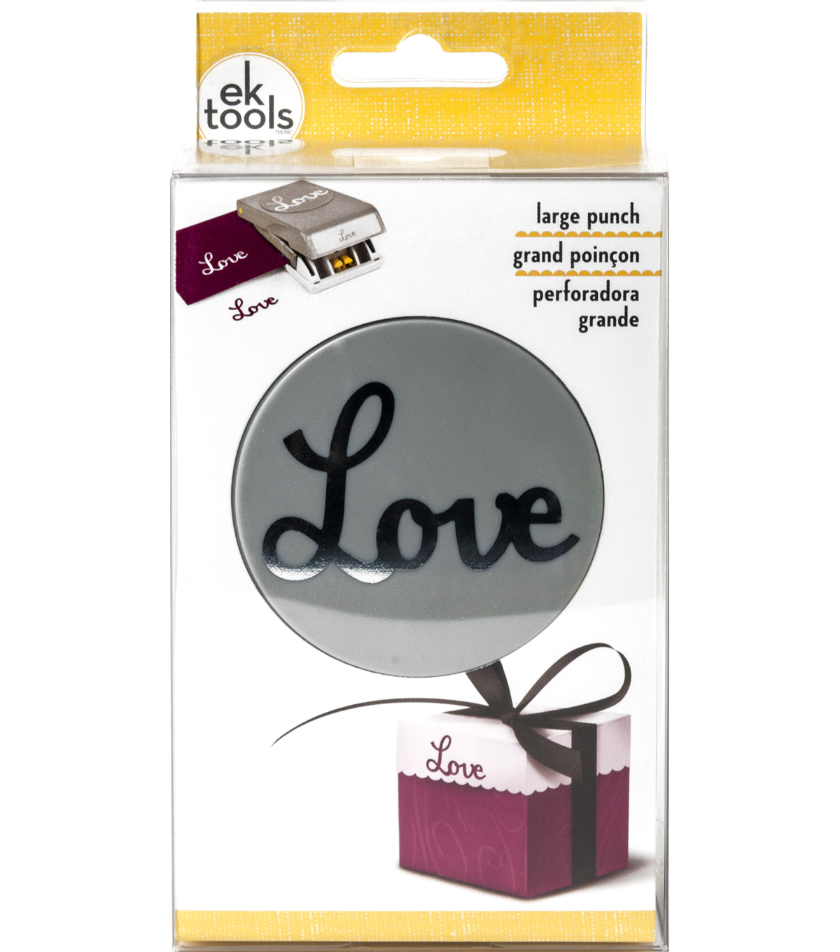EK Tools Double Punch-Love Word