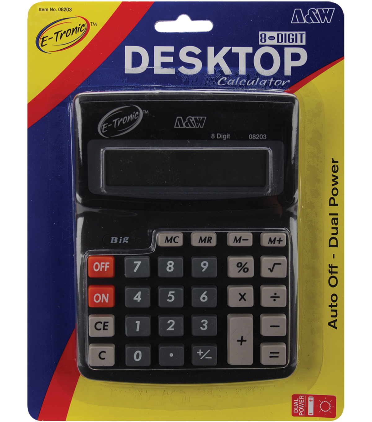 Desktop Calculator 8-Digit 7.5\u0022X5.7\u0022-Dual Power