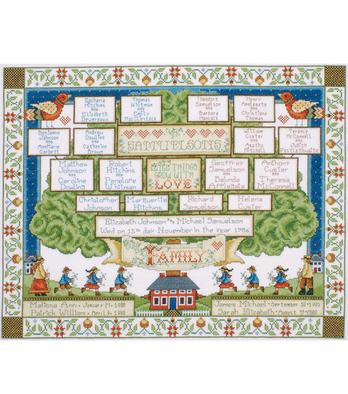 Tobin Counted Cross Stitch Kit Family Tree