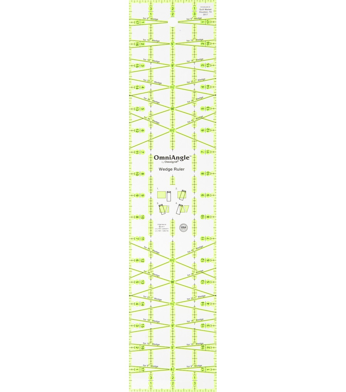 Omnigrid OmniAngle 4\u0027\u0027x18\u0027\u0027 Non-Slip Wedge Ruler