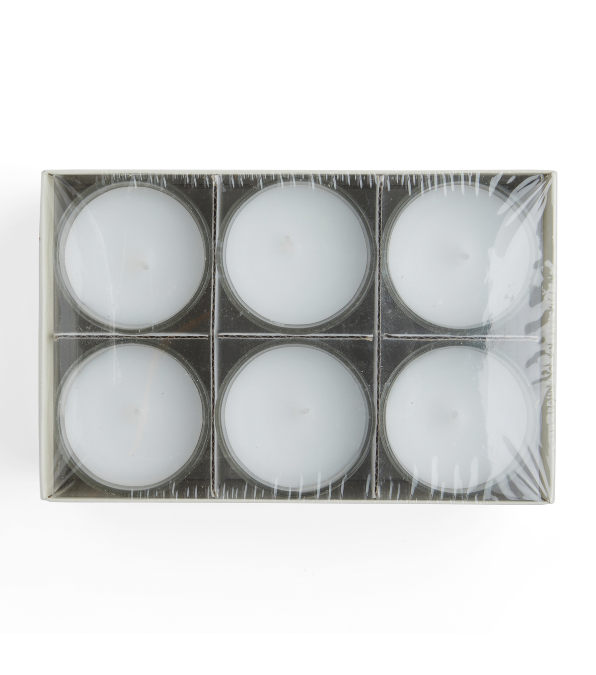 Hudson 43 Candle & Light Collection 6pk Unscented Glass Accent Candles-White