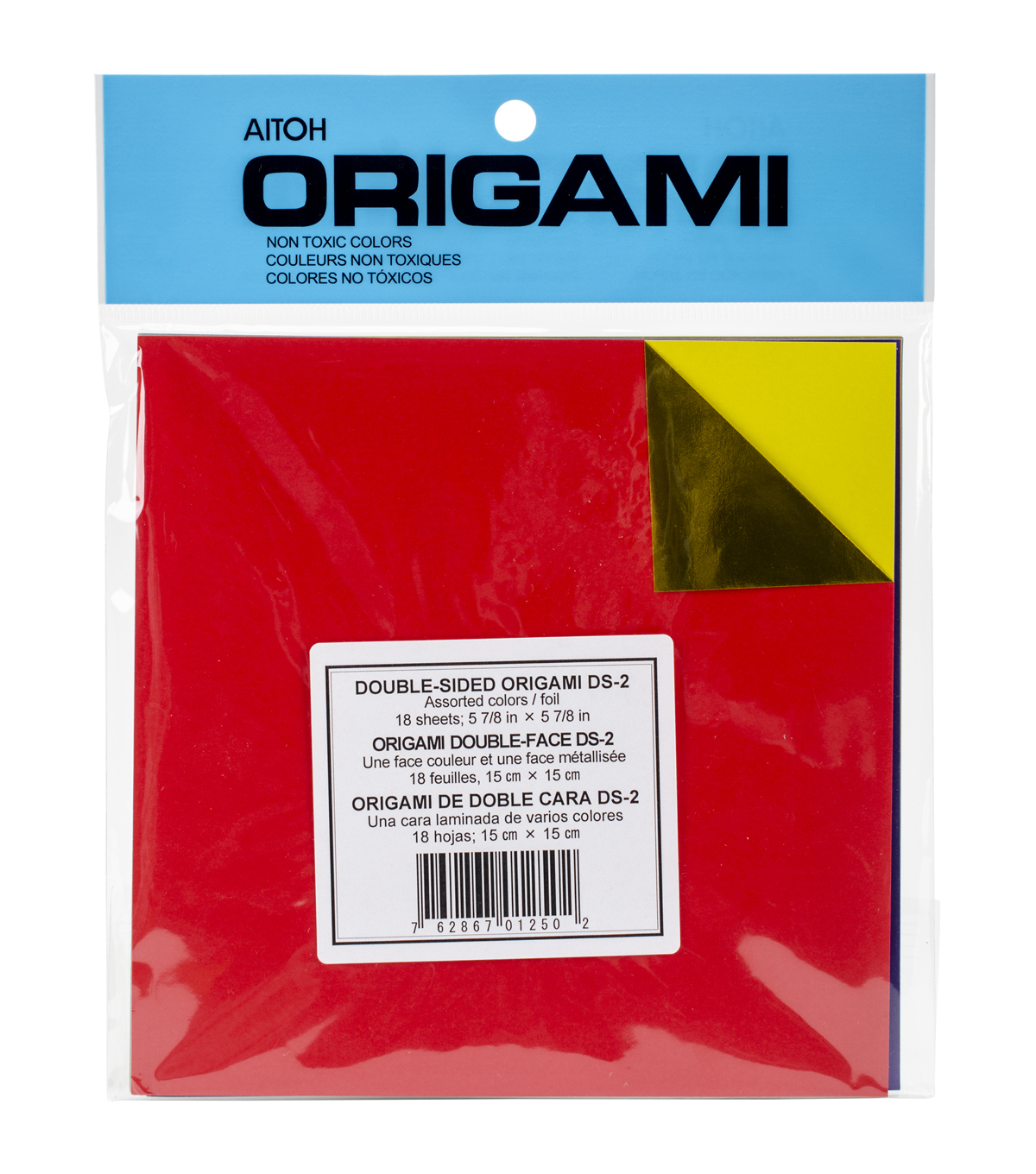 Aitoh Origami Paper Double-Sided Foil Sheets