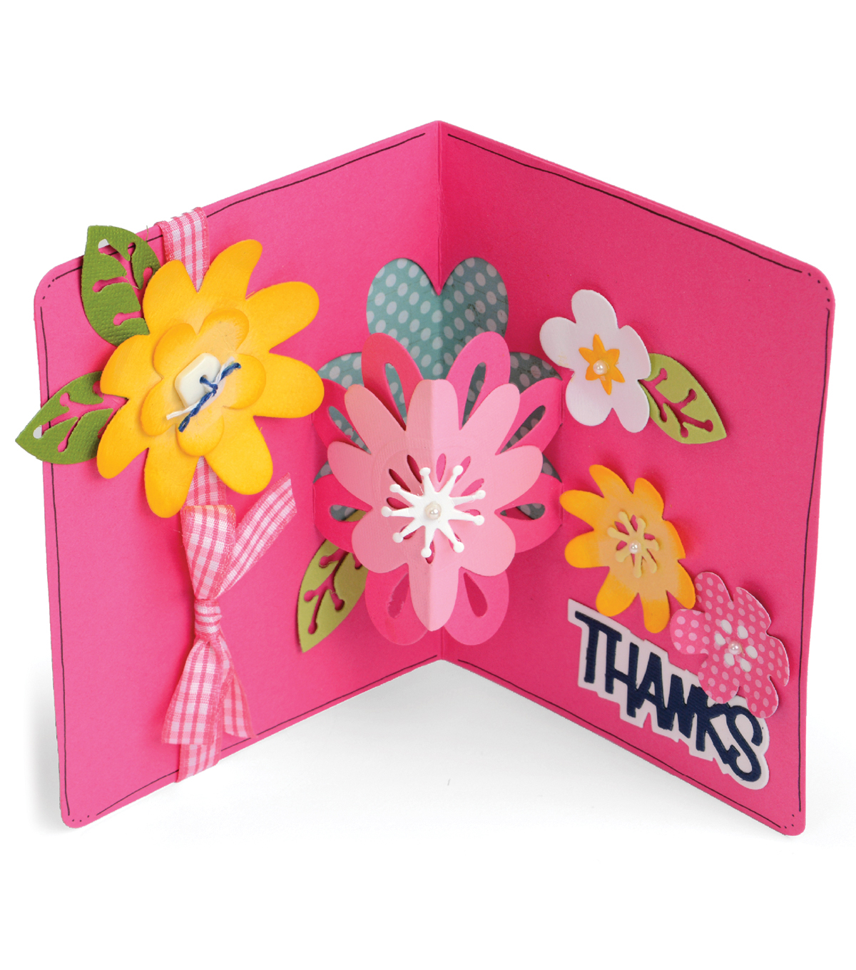 Sizzix Framelits 21 pack Dies-Card with Flowers 3D Drop-Ins