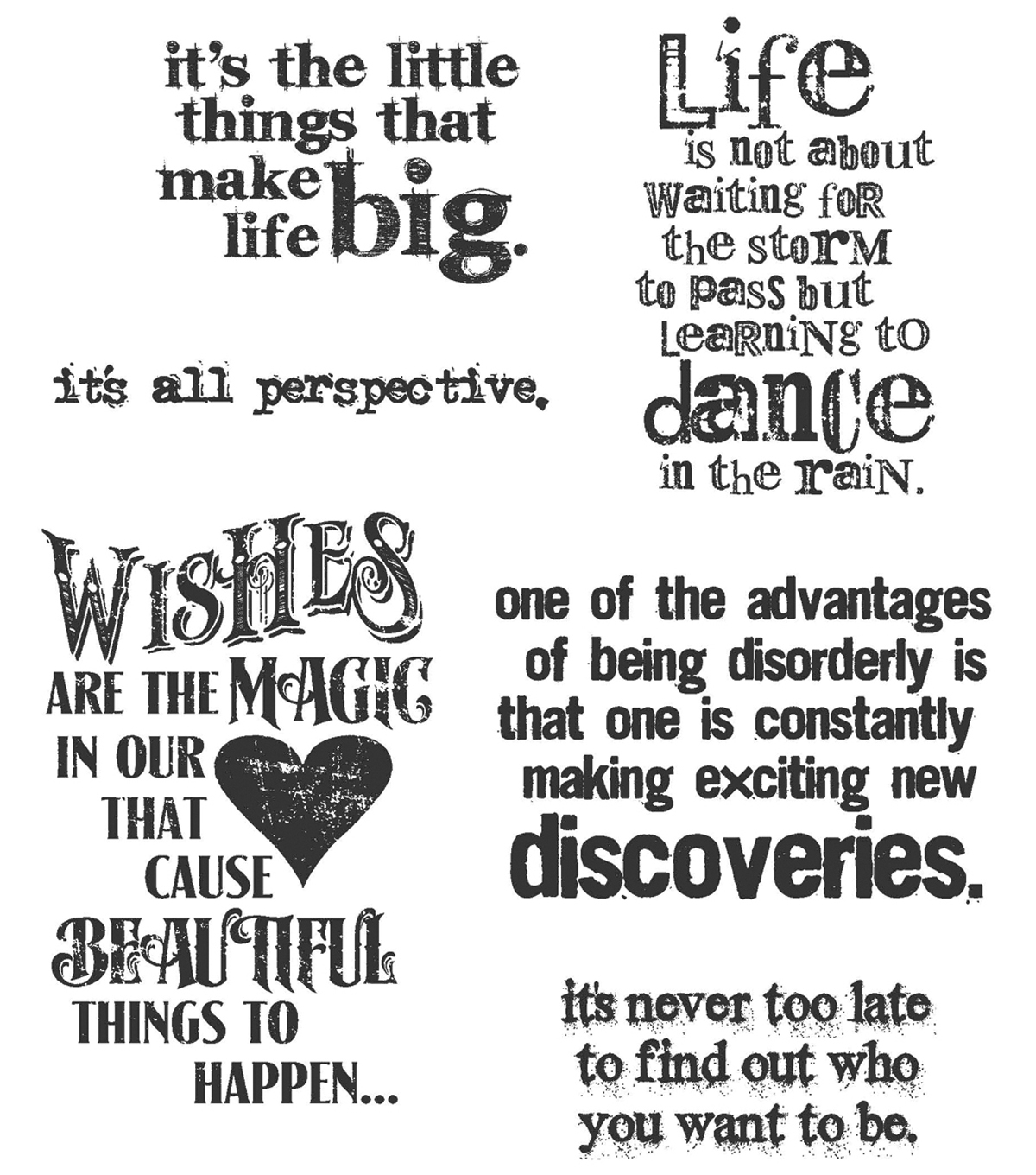Tim Holtz Cling Rubber Stamp Set-Good Thoughts
