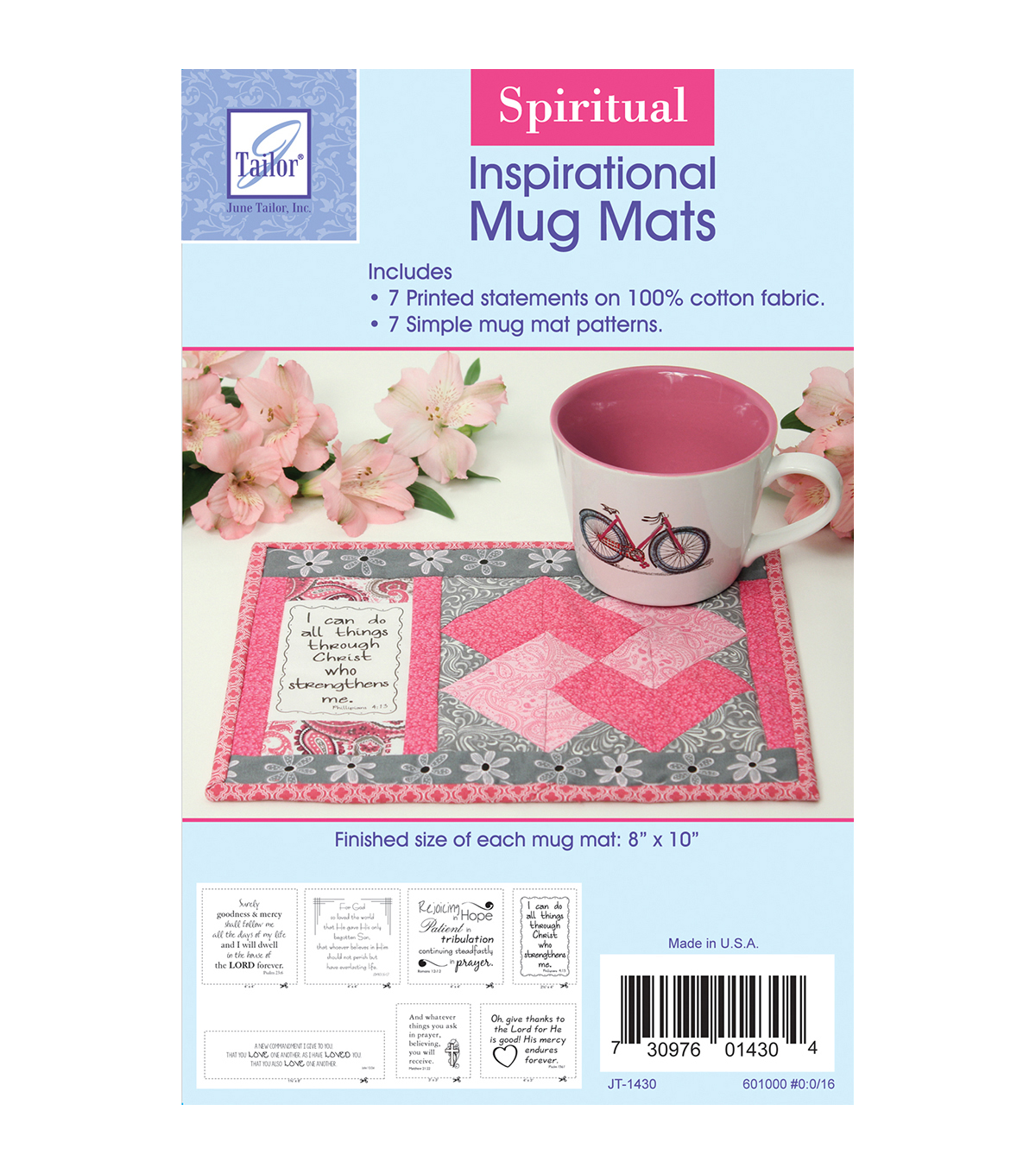 June Tailor Inspirational Mug Mats Spiritual Series