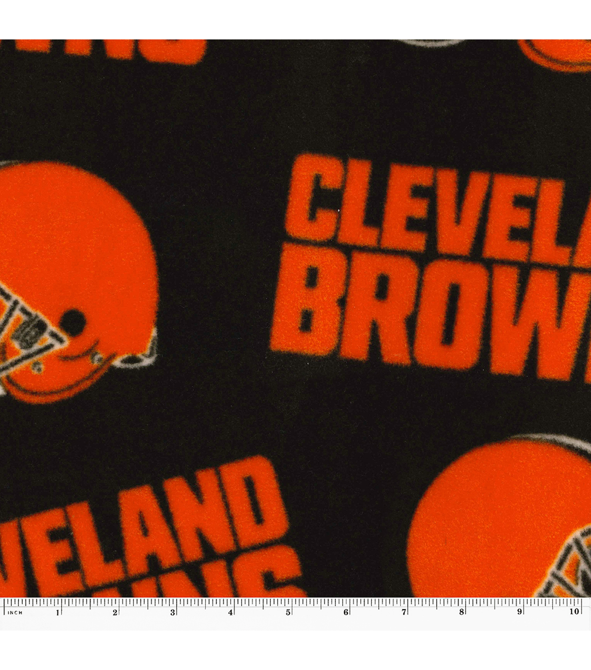 Cleveland Browns Fleece Fabric -Logo