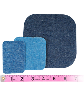 10//Pack Denim Singer 2-Inch-by-3-Inch Iron-On Patches
