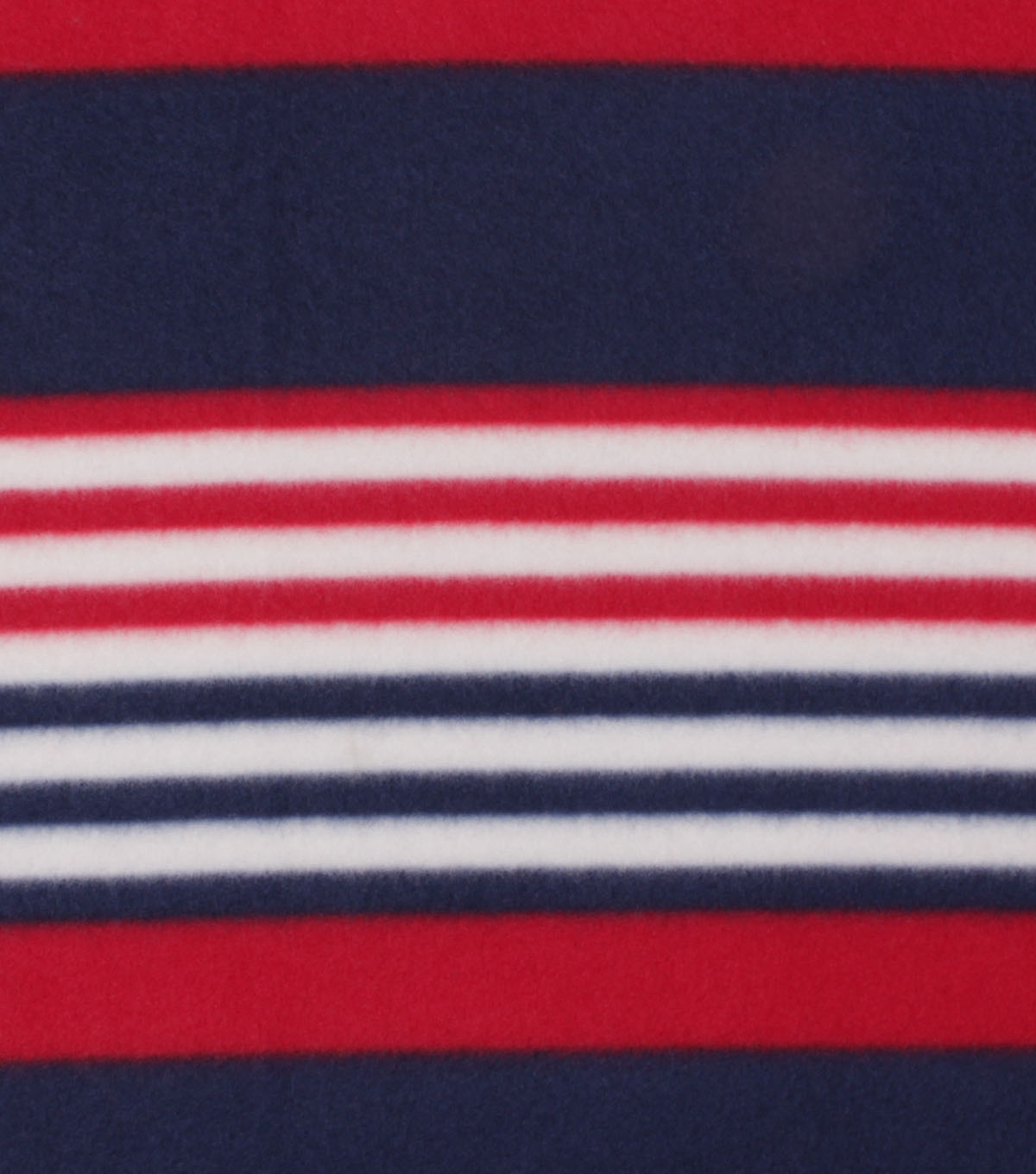 Blizzard Fleece Fabric-Classic Navy, White & Red Stripes