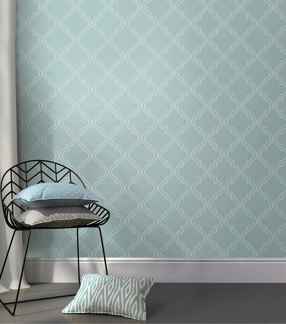 WallPops NuWallpaper Peel & Stick Wallpaper-Quatrefoil