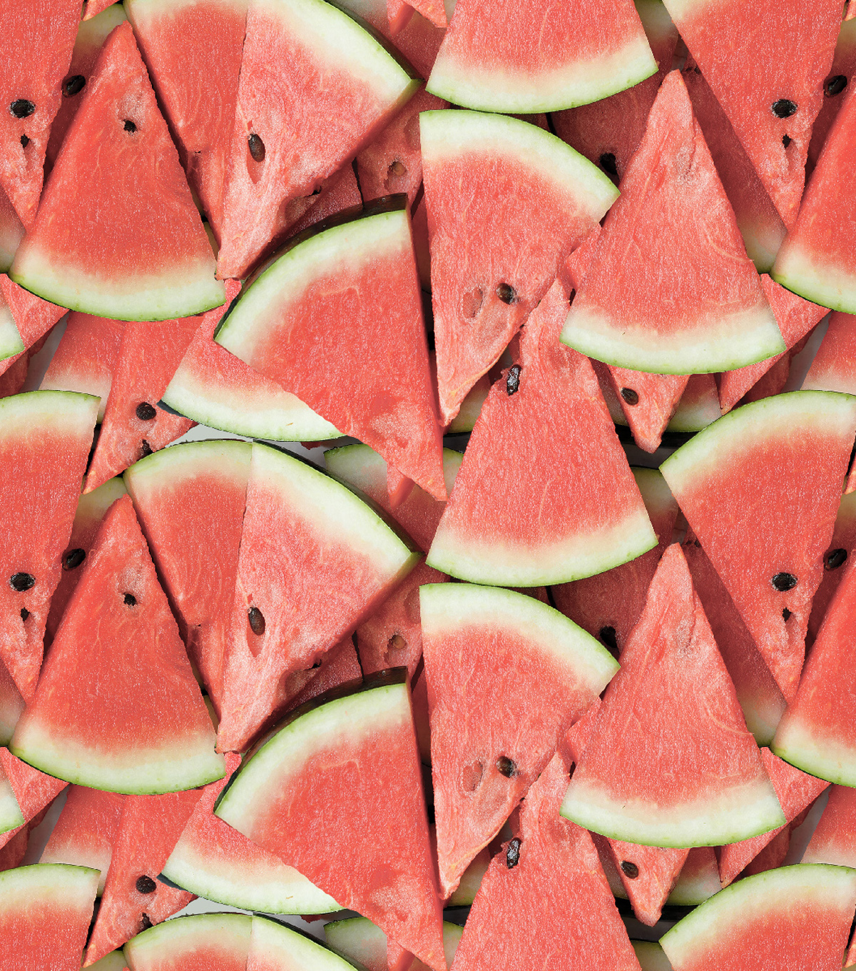 Novelty Cotton Fabric -Photoreal Watermelon Slices