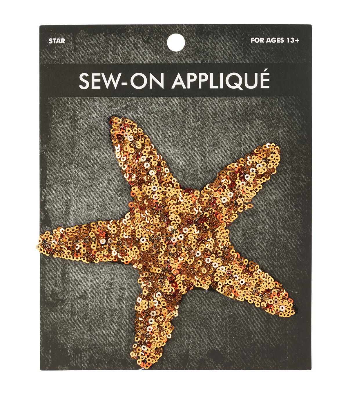 d982a097bd432 Sequin Star Sew-on Applique