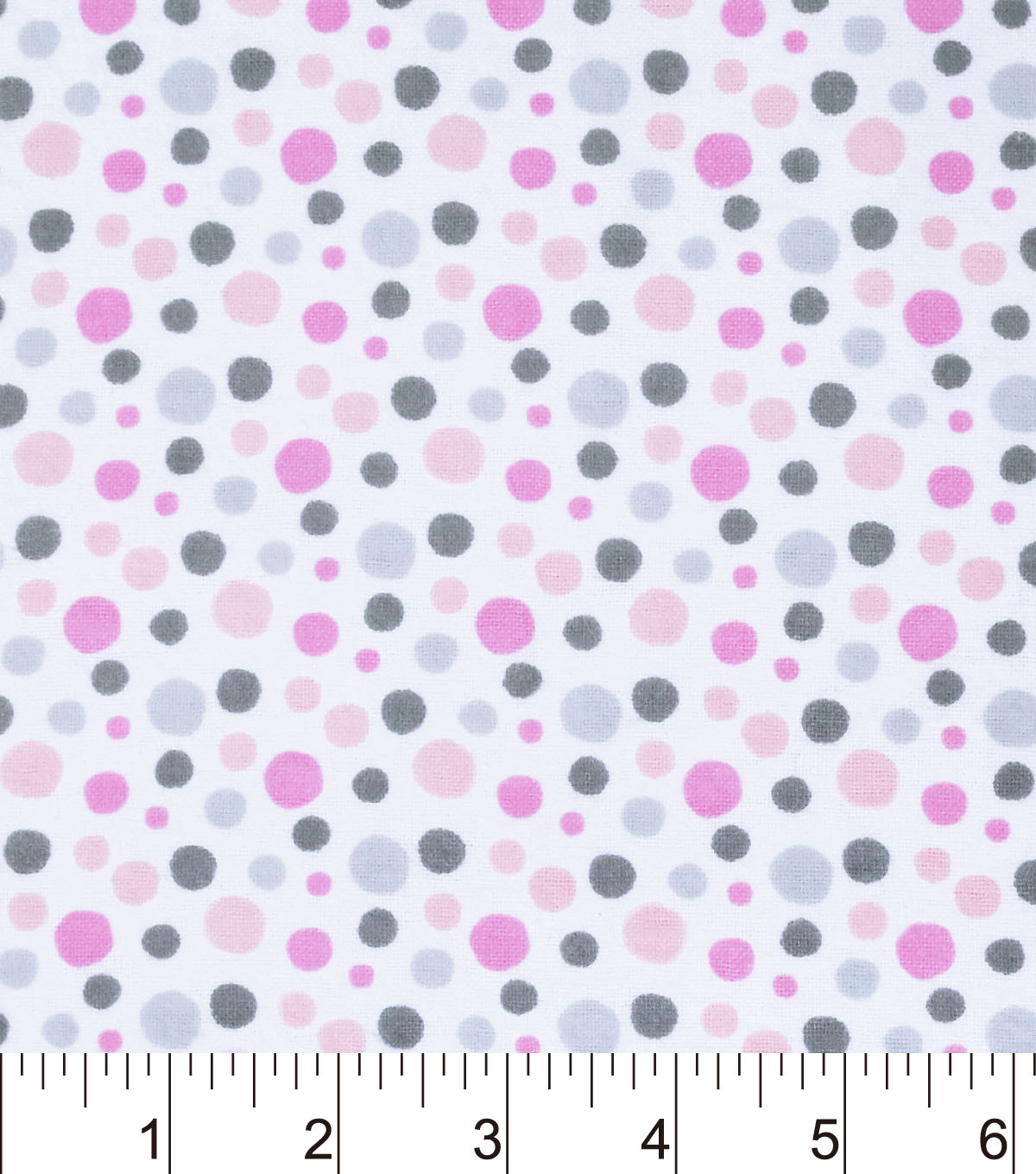 Nursery Flannel Fabric -Madison Dot Print