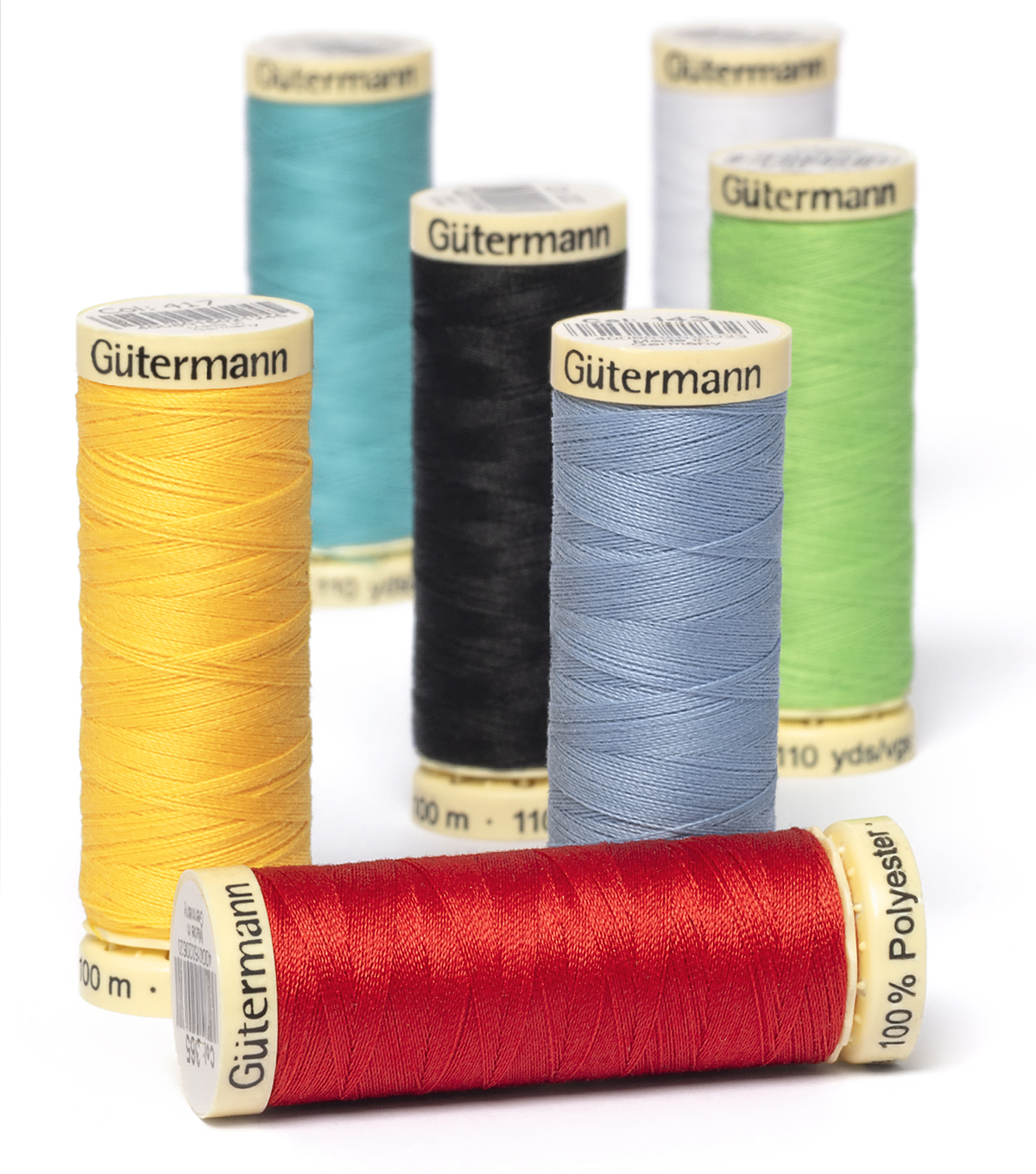 Gutermann Sew All Polyester Thread 110 Yards-Greens