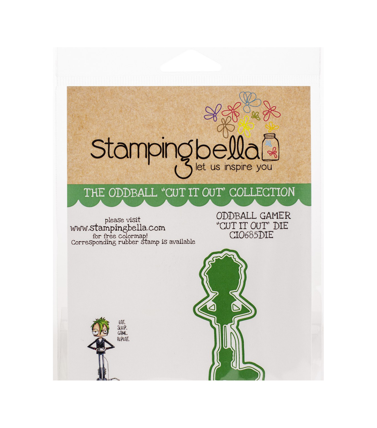 Stamping Bella 1.5\u0027\u0027x3.88\u0027\u0027 Cut it Out Die-Oddball Gamer