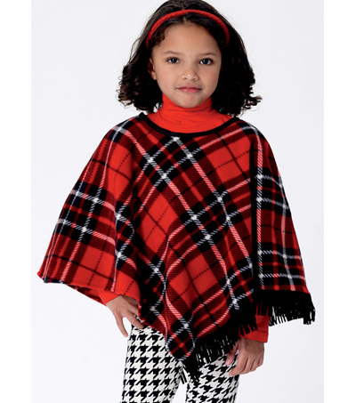Butterick Pattern B6373 Children's/Girls' Capes & Poncho-Size 6-7-8