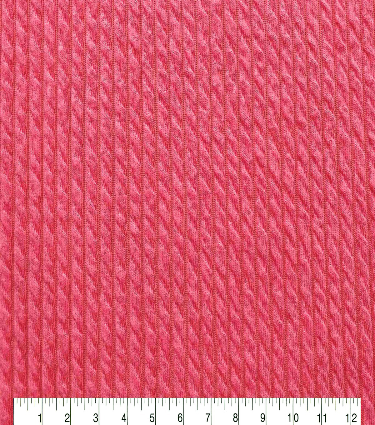 Endless Sea Pucker Knit Fabric 59\u0022-Coral
