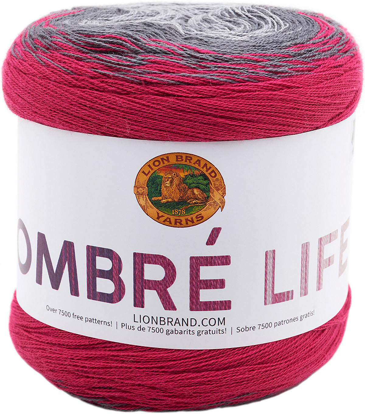 Lion Brand Ombre Life Yarn, Rush Hour