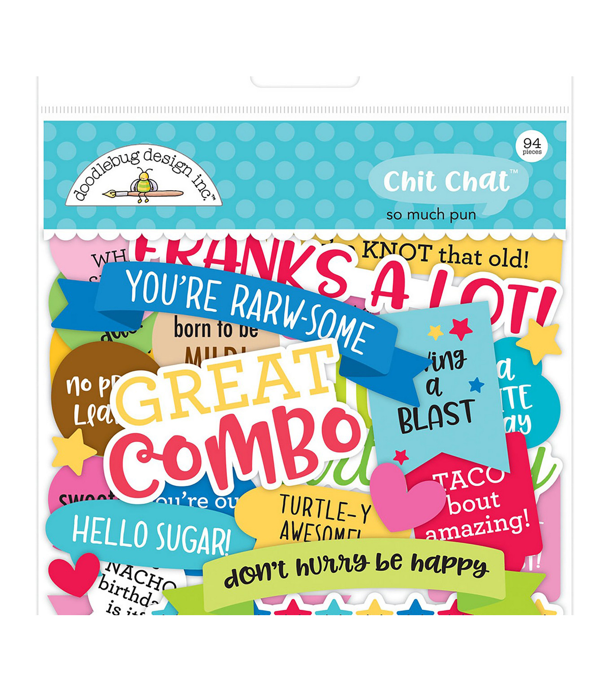988e8547fb8 Doodlebug Odds   Ends Die-Cuts 94 Pkg-So Much Pun Chit Chat