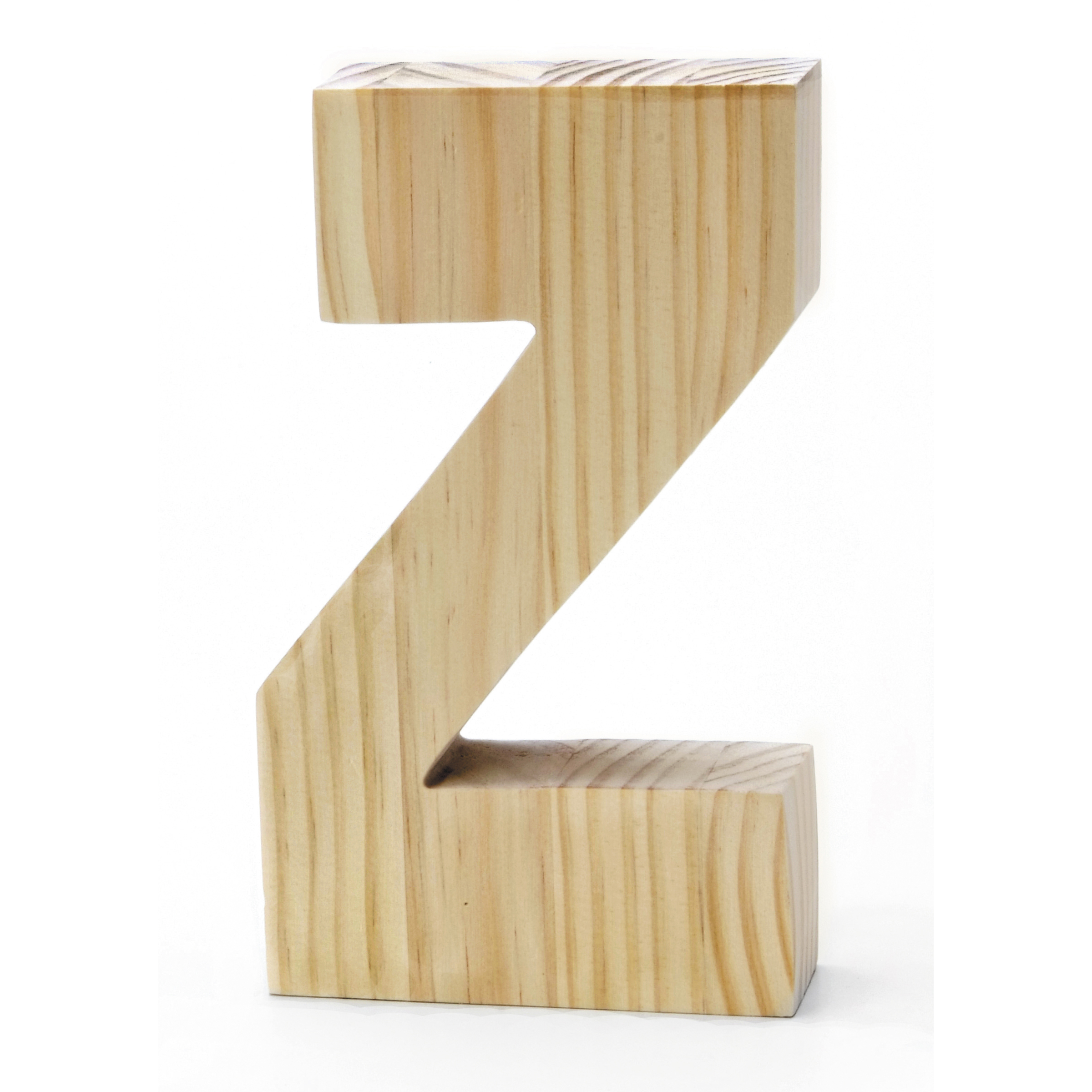 Chunky Wood Letter 8 X 5 In, Z