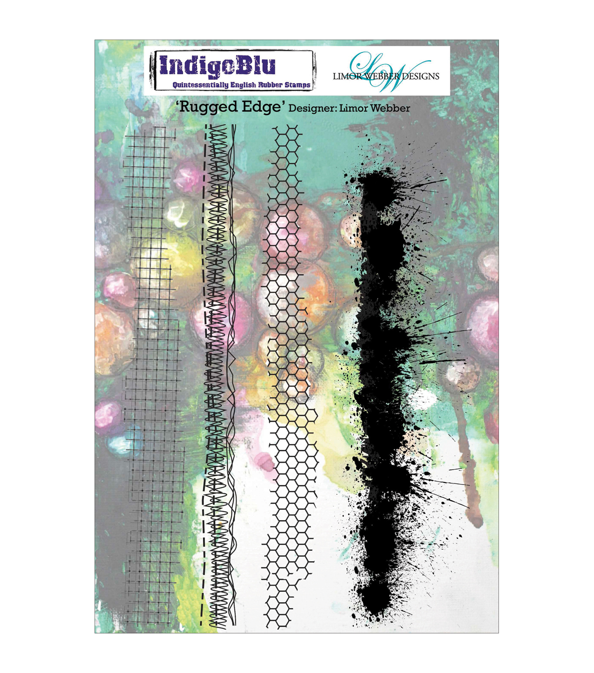 Indigoblu Rugged Edge Cling Mounted Stamp
