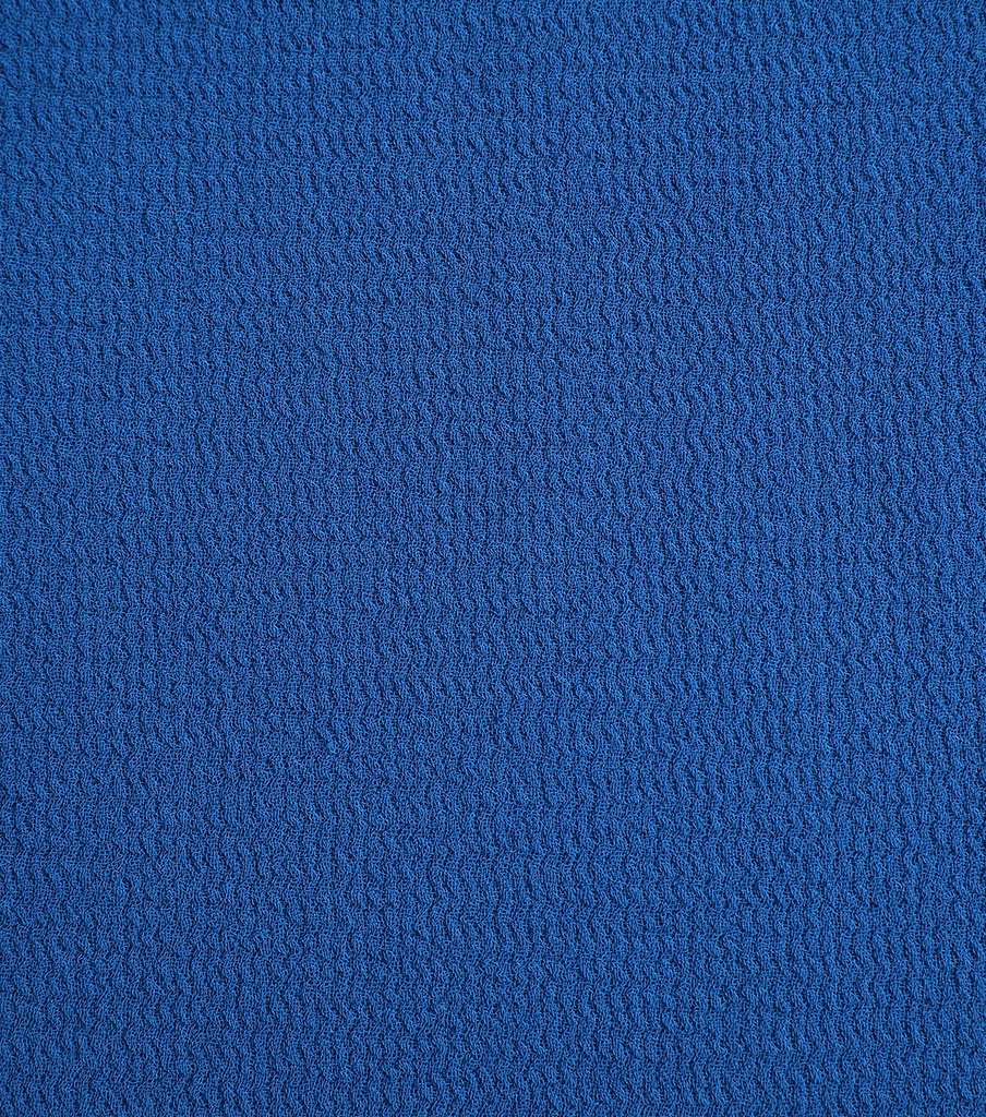 Silky Solid Crepe Knit Fabric-Solid Textured, Mykonos Blue