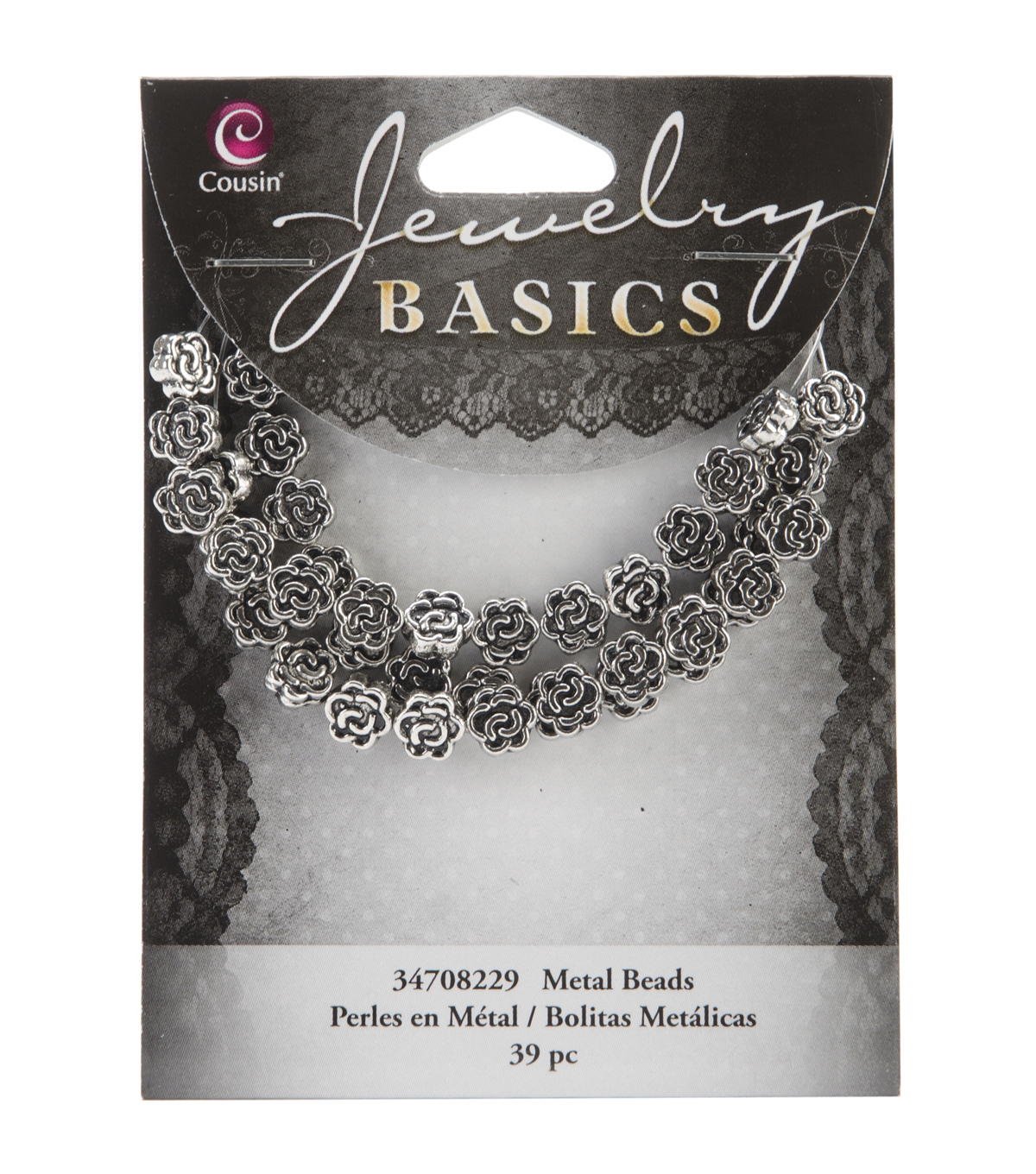 Jewelry Basics Metal Beads 39/Pkg-7mm Silver Flower