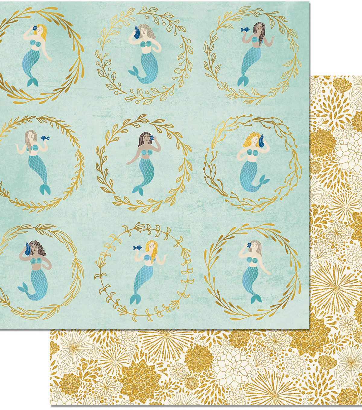 Down By The Sea Double-Sided Cardstock 12\u0022X12\u0022-Down By The Sea