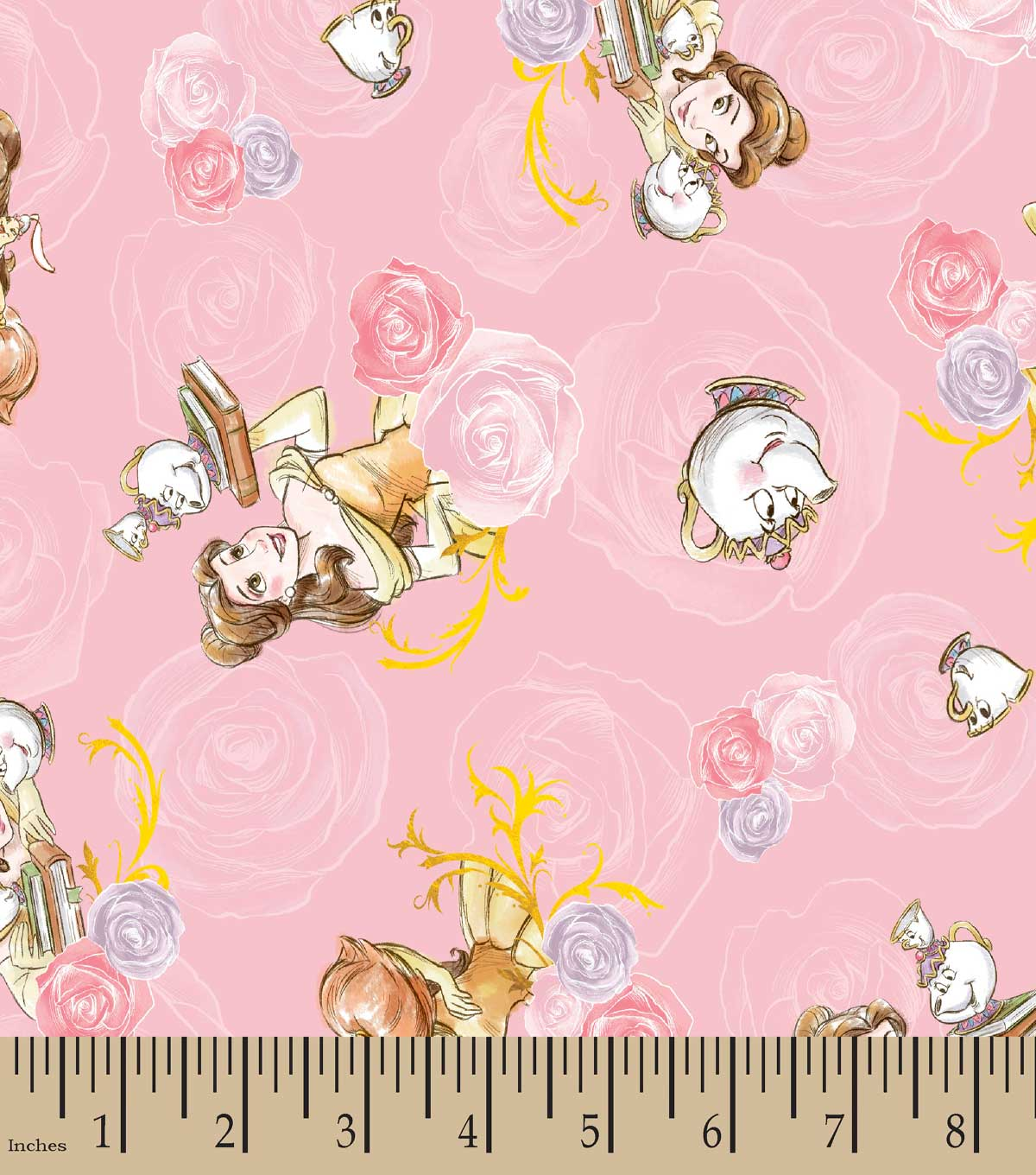 Disney Princess Print Fabric- Belle And Friends Toss | JOANN