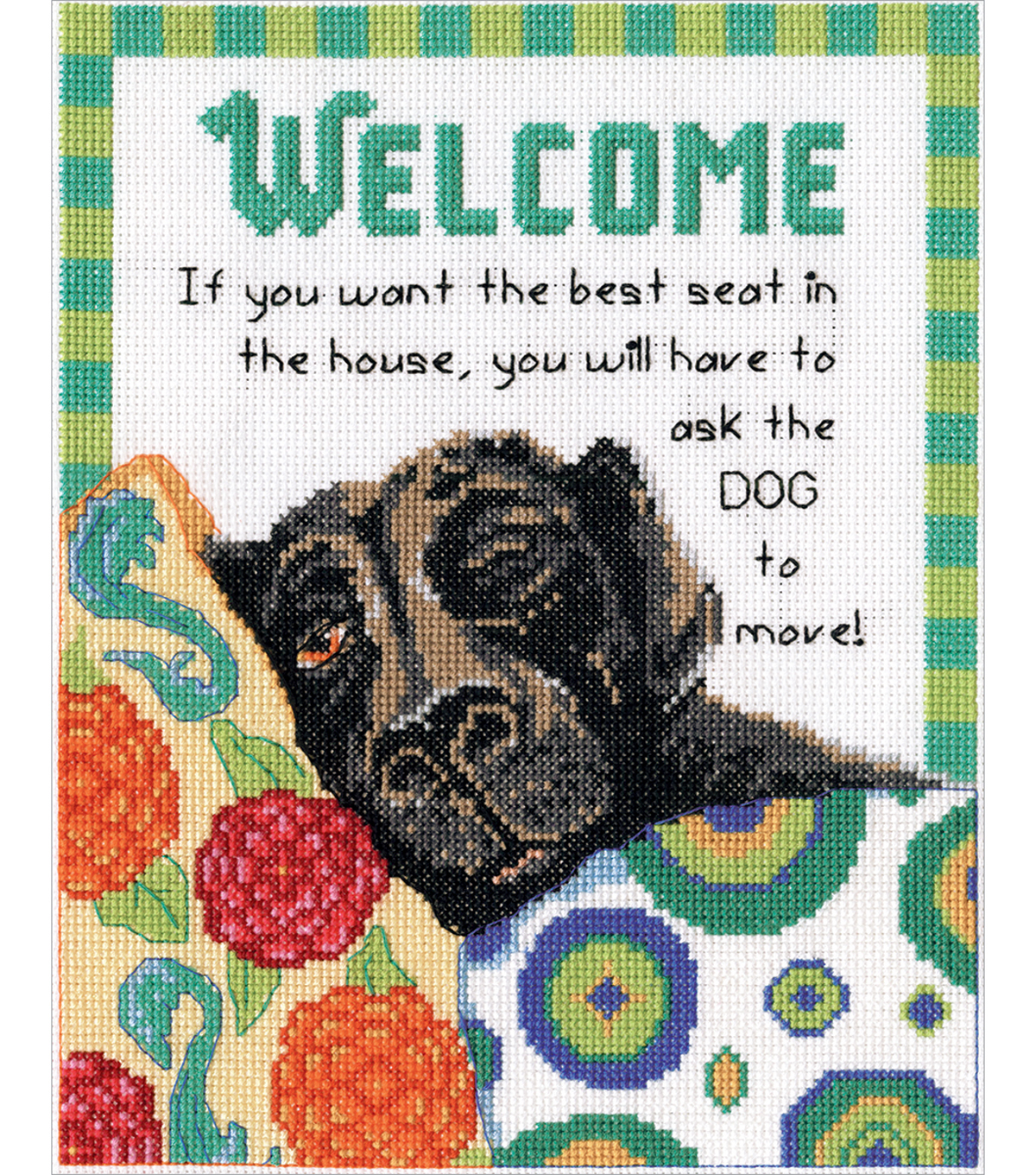 Design Works Crafts 8\u0027\u0027x10\u0027\u0027 Counted Cross Stitch Kit-Best Seat Welcome