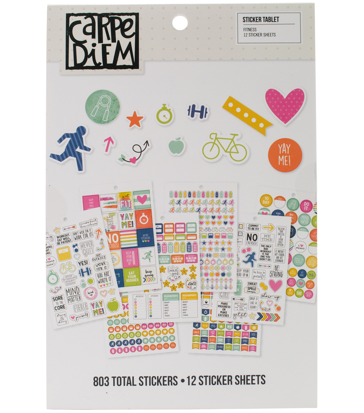 Carpe Diem Fitness A5 Stickers