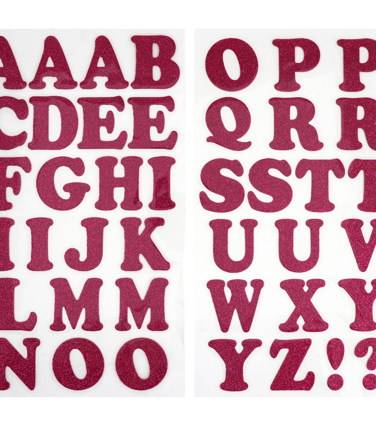 Jolee\'s Boutique 42 pk 1.5\'\' Glitter Letters Iron-on Transfers-Pink ...