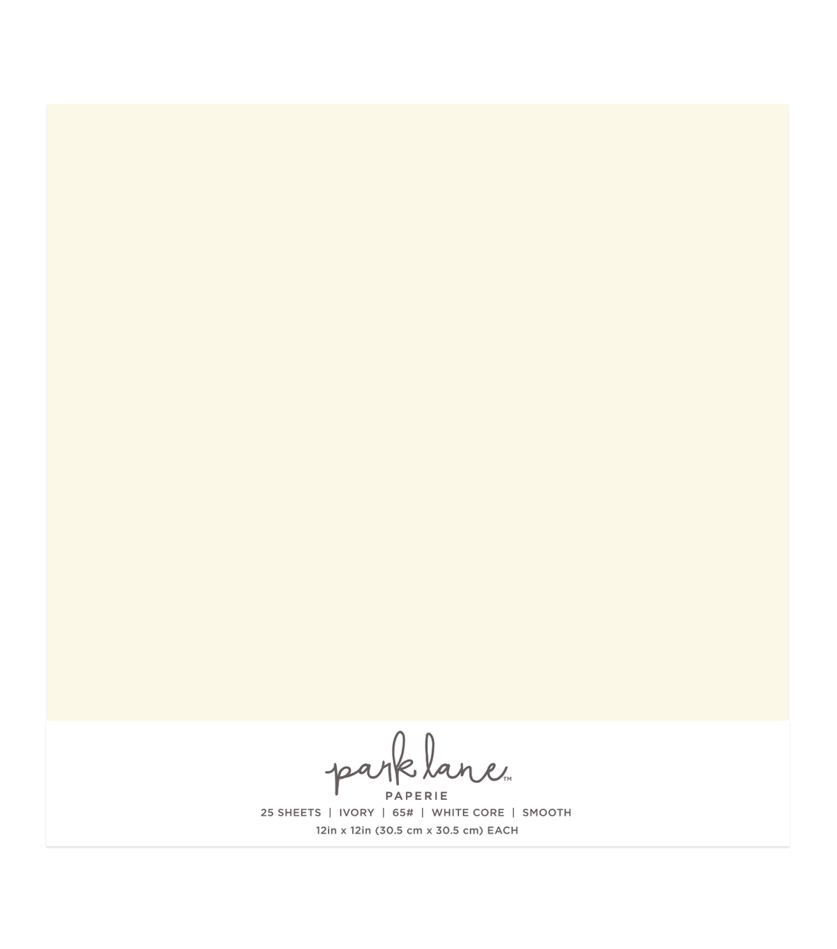 Park Lane 25 pk 12\u0027\u0027x12\u0027\u0027 Value Papers-Ivory