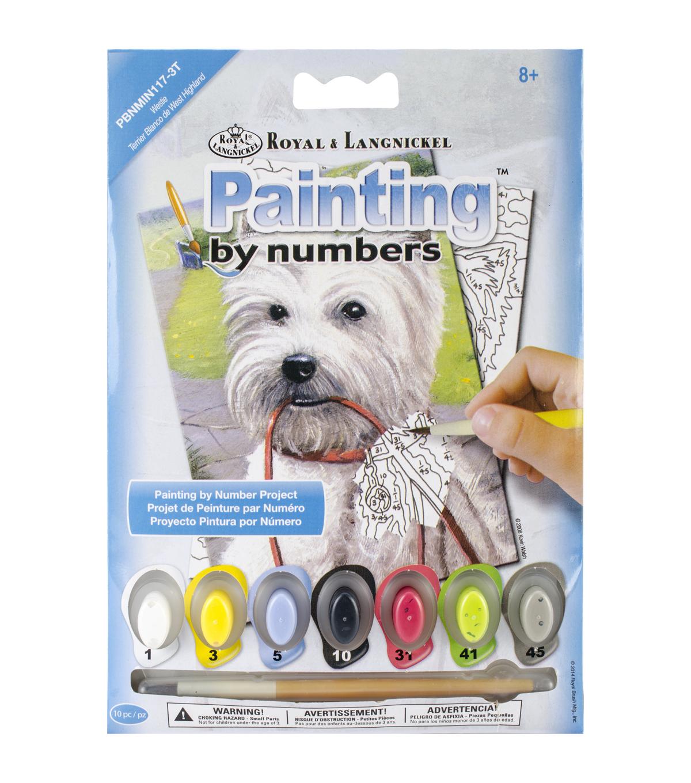 Royal Langnickel Westie Mini Paint By Number Kit